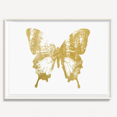 Butterfly with Forest Wings 2 - Gold
