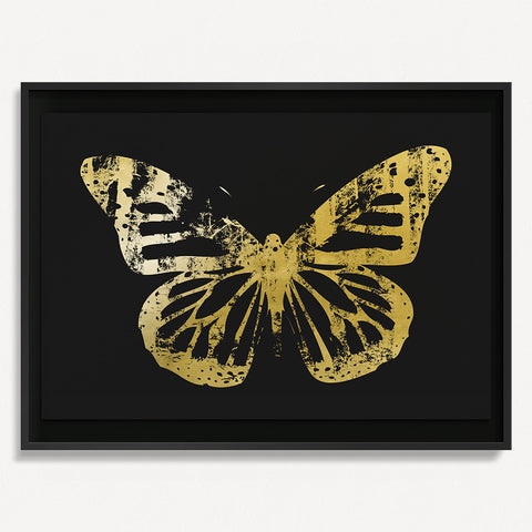Butterfly with Forest Wings 3 - Gold on Black