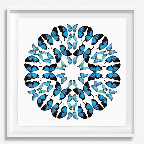 Kaleidoscope Butterfly 1 - Blue