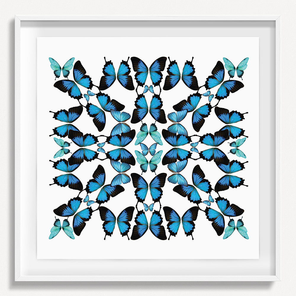 Kaleidoscope Butterfly 2 - Blue