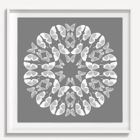 Kaleidoscope Butterfly 1 - Gray
