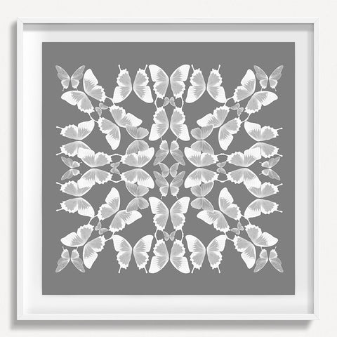 Kaleidoscope Butterfly 2 - Gray