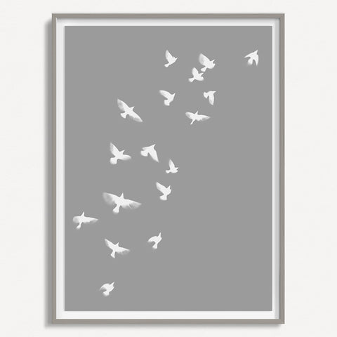 Smokey Bird 1 - Grey - Large