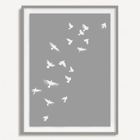 Smokey Bird 1 - Grey - Small