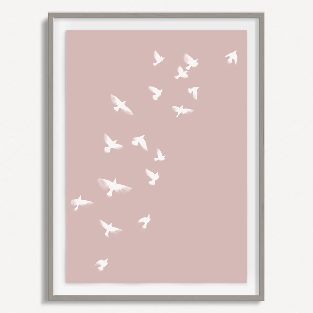 Smokey Bird 1 - Dusty Pink - Small