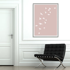 Smokey Bird 1 - Dusty Pink - Large