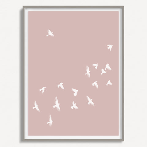 Smokey Bird 2 - Dusty Pink - Large