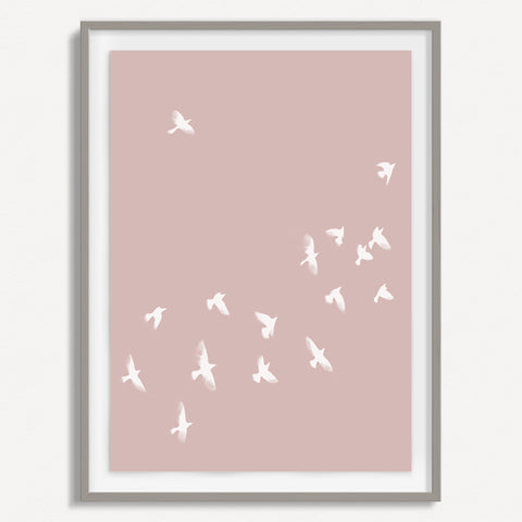 Smokey Bird 2 - Dusty Pink - Small