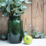 Load image into Gallery viewer, Large decorative Green Glass vase