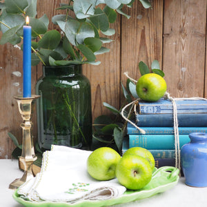 Large decorative Green Glass vase