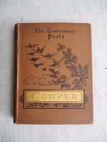 "Load image into Gallery viewer, Vintage Book. ""The Canterbury Poets"" Cowper"