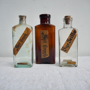 German Apothecary Bottle with Label no. 2