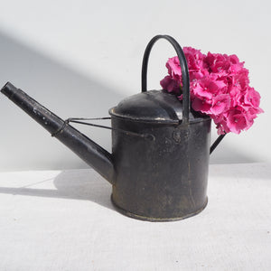 Small Black Antique Watering Can