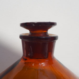 Large English Apothecary Bottle with Original Stopper