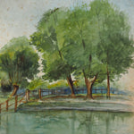 Load image into Gallery viewer, Edwardian Landscape dated 1908