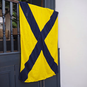 Blue and Yellow Navy Signalling Flag