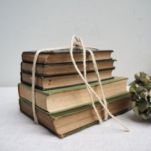 Muted Green Vintage Book Bundle