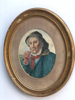 "Load image into Gallery viewer, ""Captain Bartholomew"" Antique Watercolour"