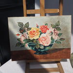 Load image into Gallery viewer, Signed Floral Watercolour on Board