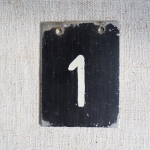 Small Metal Number (1)