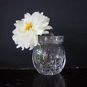 Cut Glass Jam Pot/Vase