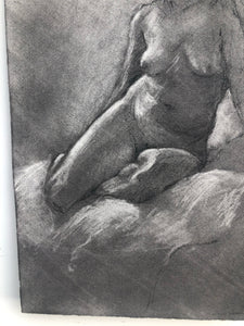Charcoal Portrait on Paper by Dennis Gilbert