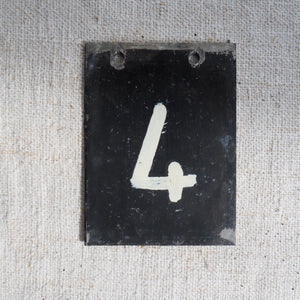 Small Metal Number (4)