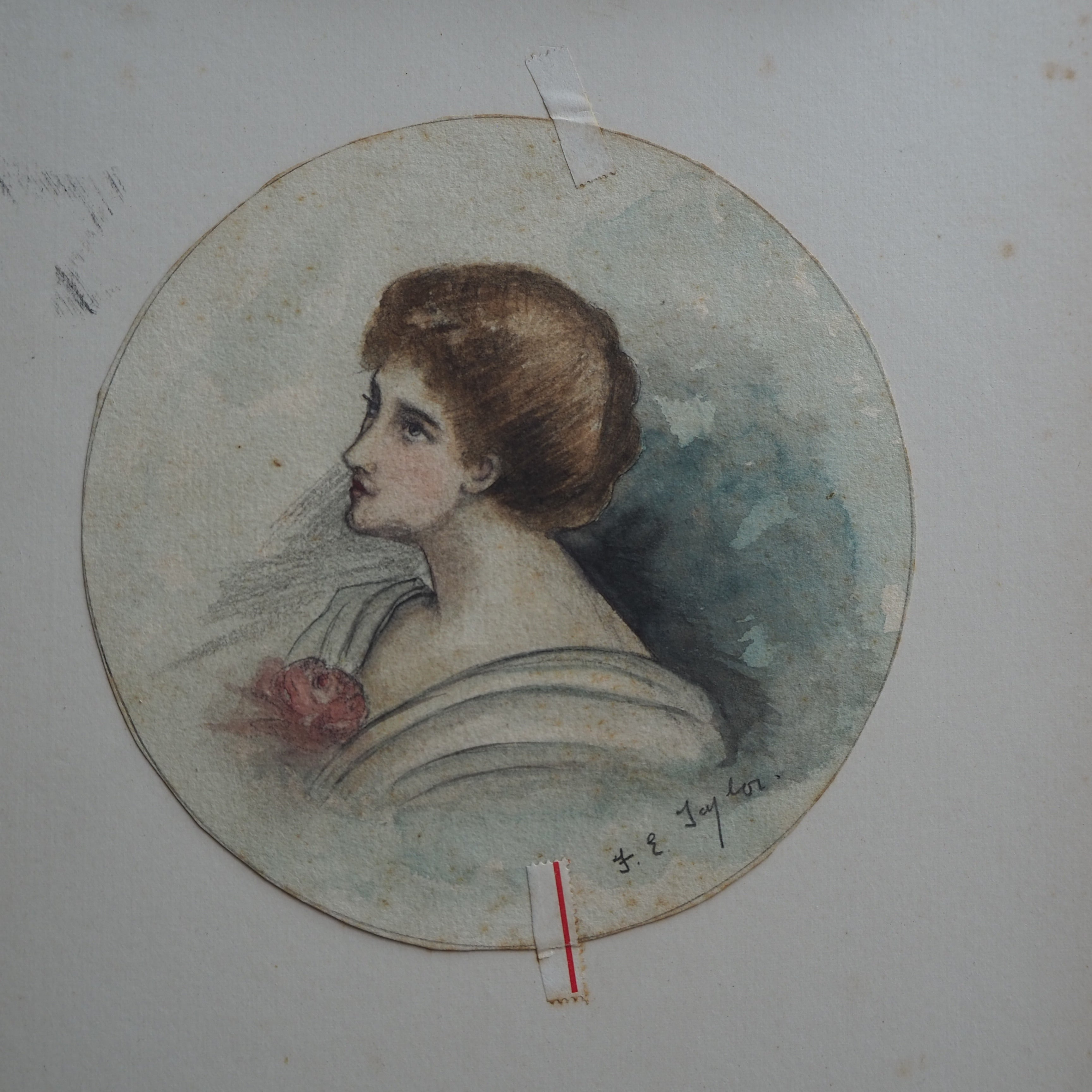 Signed Watercolour of an Edwardian Lady
