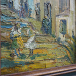 Load image into Gallery viewer, Framed Oil on Board - Street Scene