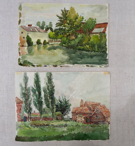 Pair of Watercolours on paper