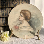 Load image into Gallery viewer, Signed Watercolour of an Edwardian Lady