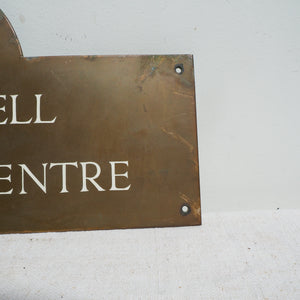 Antique Brass Sign