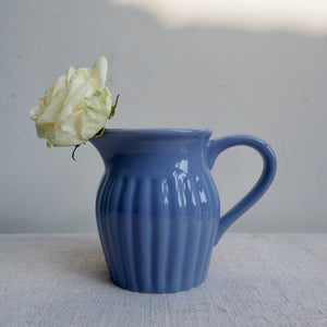 Mini blue vintage milk jug