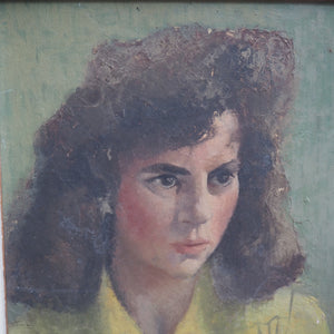 Pretty Mid-Century Portrait of Lady in a lovely Frame