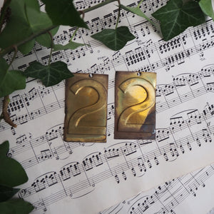 Small Brass Number - 2