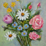 Load image into Gallery viewer, Small Oil on Board - Spring Flowers