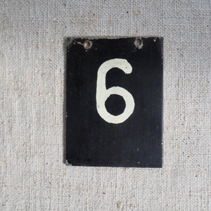 Small Metal Number (6)