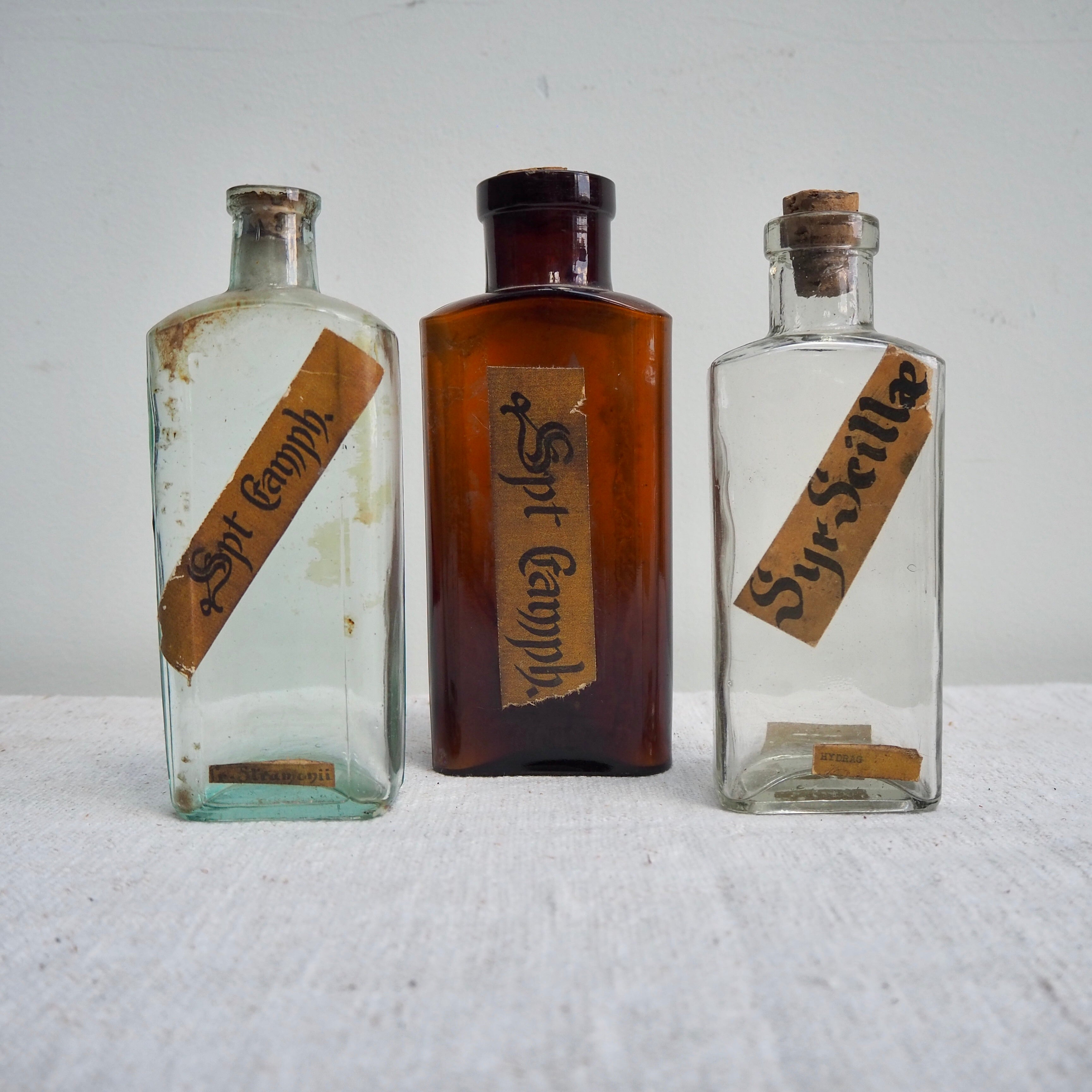 German Apothecary Bottle with Label no. 1