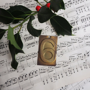 Small Brass Number - 6