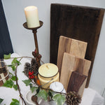 Load image into Gallery viewer, Large rustic candlestick with Fleur-de-lis