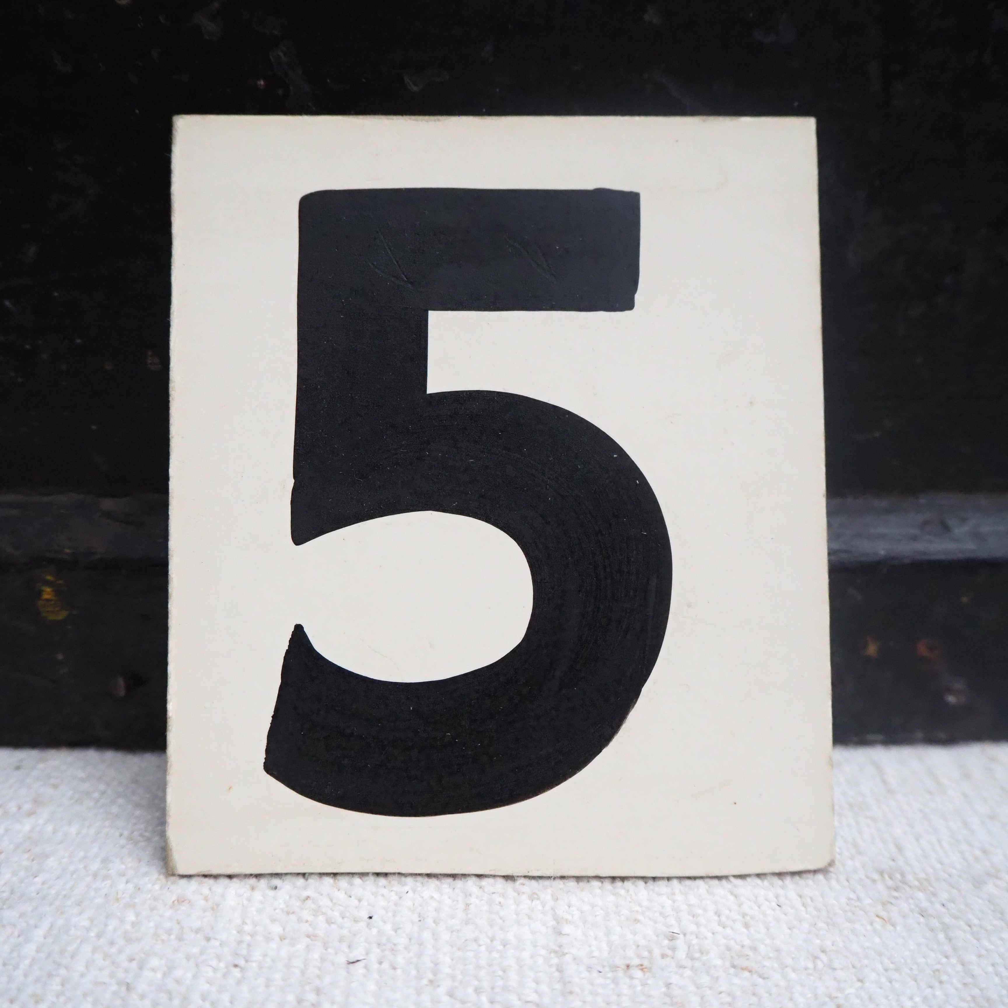 Small Cardboard Number - 5