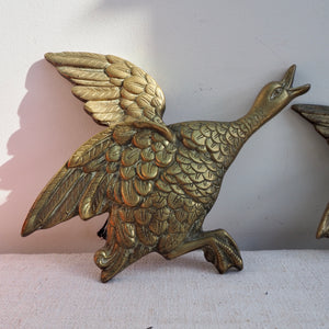 Large Flying Brass Duck