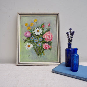 Small Oil on Board - Spring Flowers