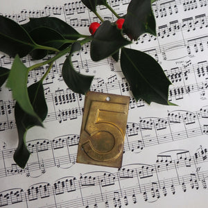 Small Brass Number - 5