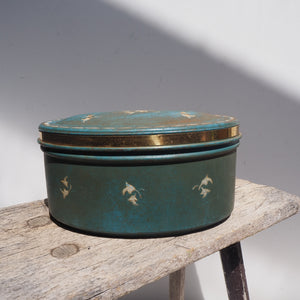 Blue Vintage Flower Tin