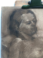 Load image into Gallery viewer, Charcoal Portrait on Paper by Dennis Gilbert