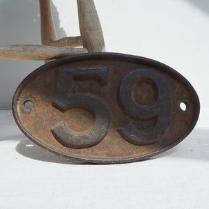 Heavy Cast Iron 59 Sign/Plate