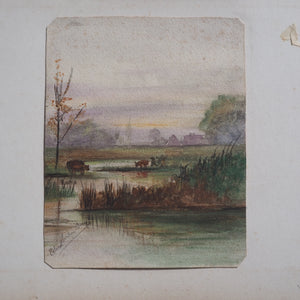 Small Edwardian Landscape Signed and Dated
