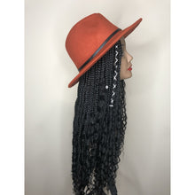 Load image into Gallery viewer, Fedora Wig-Boho Box Braids