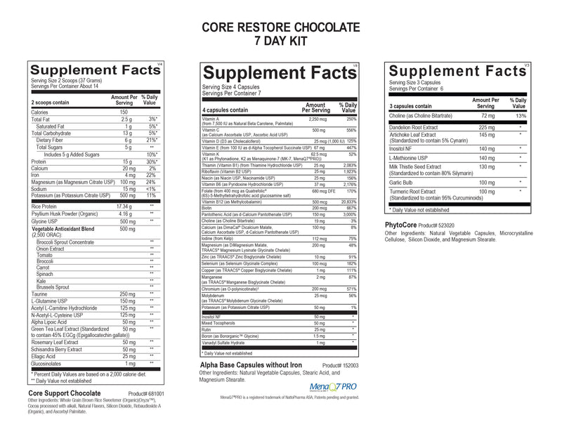 Core Restore 14-Day Kit (Chocolate)